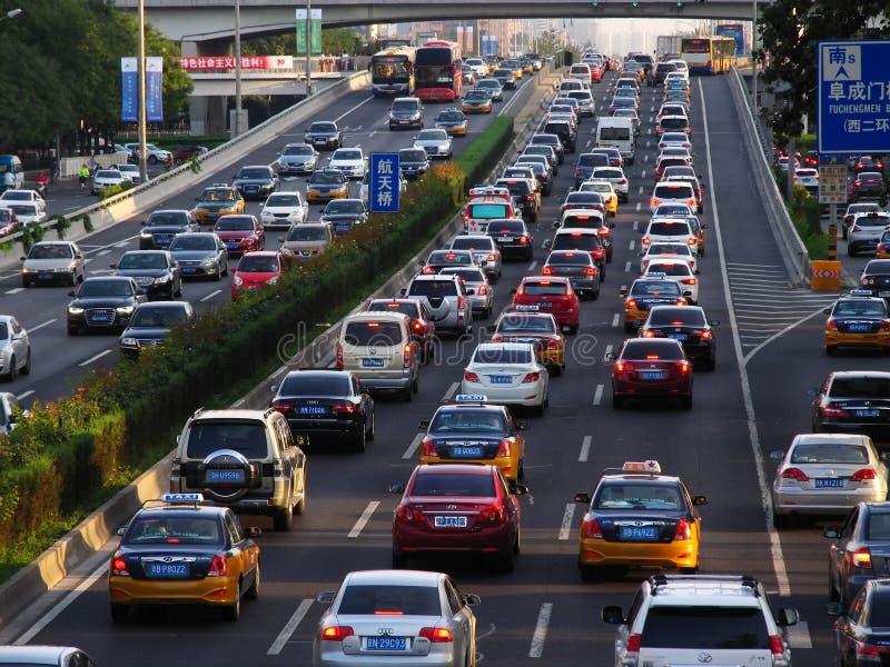 Ruchów drogowych problemy w Pekin zdjęcia royalty free