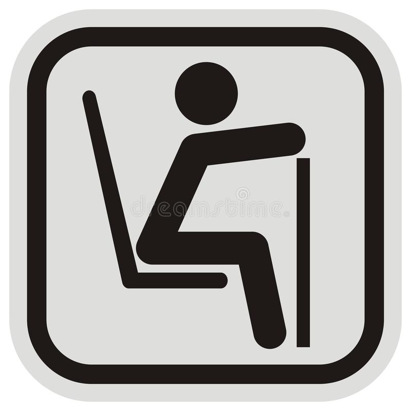 Ruchów drogowych znaków, starej lub niepełnosprawnej osoba, rezerwujący miejsce, ilustracja wektor