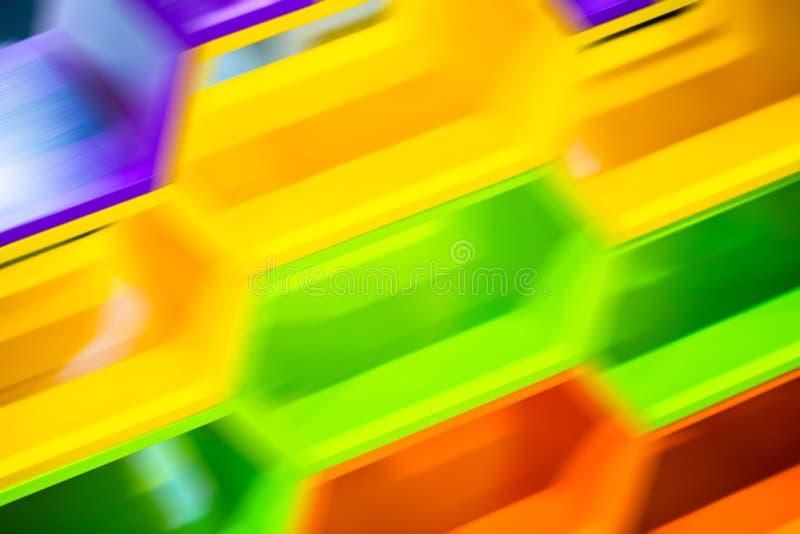 Ruch abstrakcjonistyczna plama geometryczna sześciokąt ilustracja wektor
