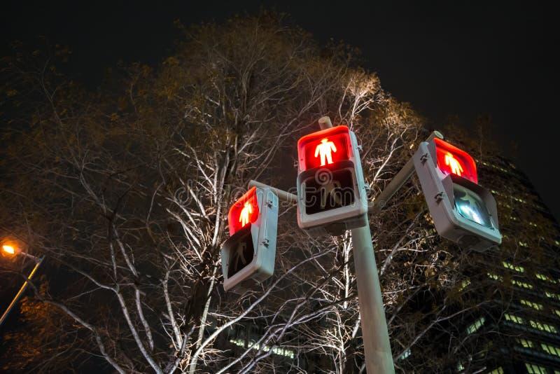 Ruch drogowy czerwieni znak dla ludzi spaceru sposobu fotografia stock
