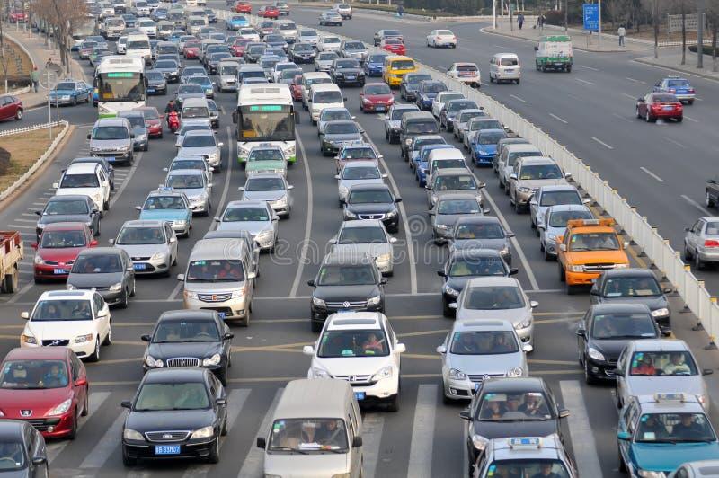 Ruch drogowy dżem obrazy stock