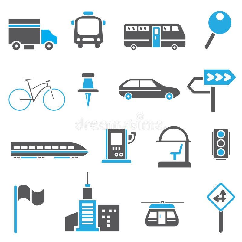 Ruch drogowy ikony, metropolii ikony ilustracja wektor