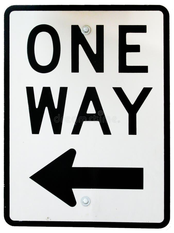 ruch drogowy jeden szyldowy sposób royalty ilustracja