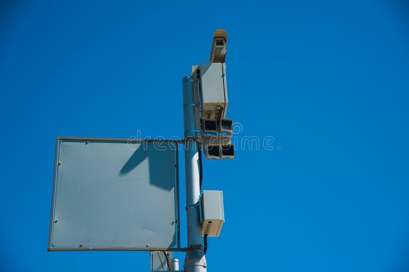 Ruch drogowy kamery bezpiecze?stwa inwigilacja zdjęcia royalty free