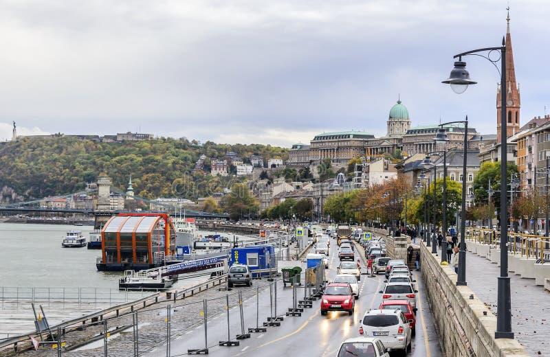Ruch drogowy na drogach Budapest fotografia royalty free