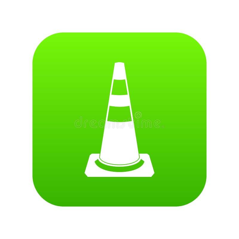 Ruch drogowy szyszkowej ikony cyfrowa zieleń ilustracji