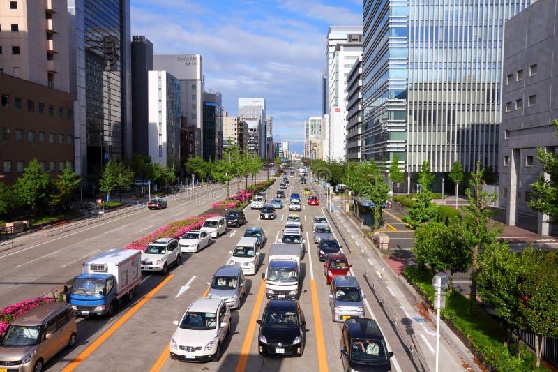Ruch drogowy w Japonia zdjęcie royalty free