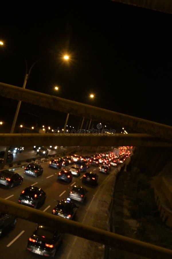 Ruch drogowy w San Miguel, Peru zdjęcia stock