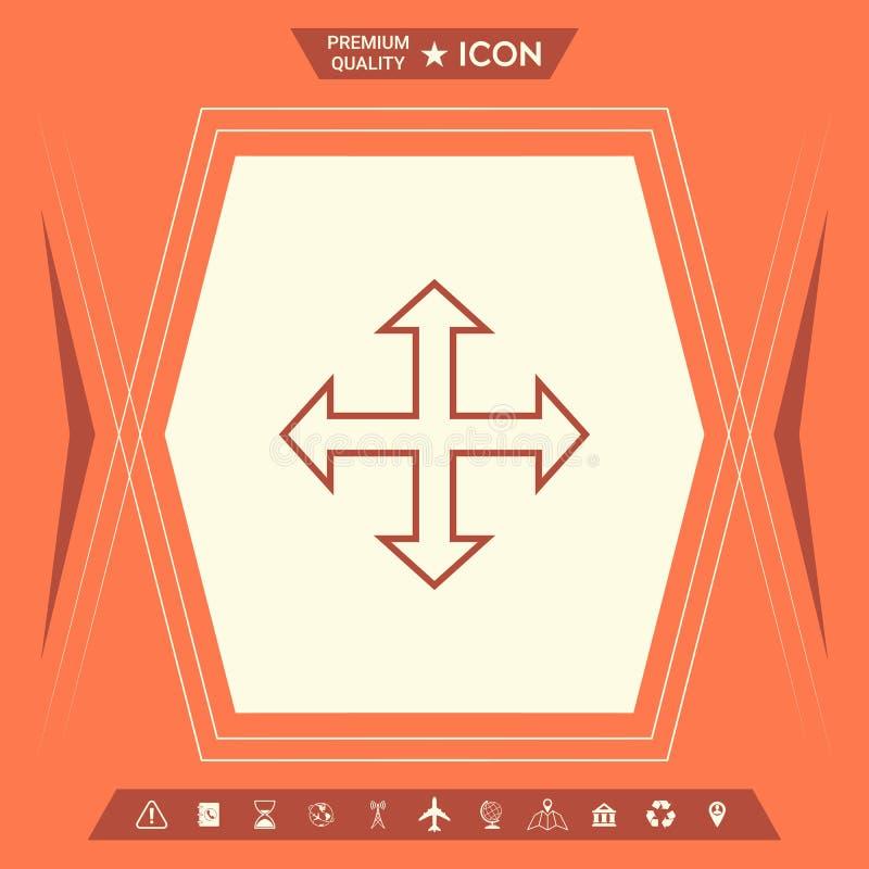Ruch ikony symbol ilustracja wektor