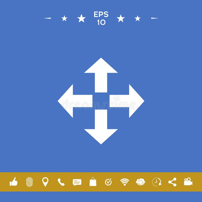 Ruch ikony symbol royalty ilustracja