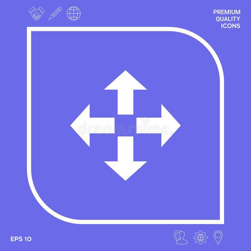 Ruch ikony symbol Graficzni elementy dla twój projekta ilustracji