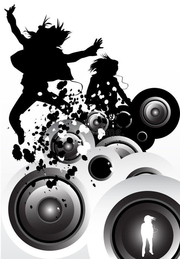 ruch muzyki ilustracja wektor