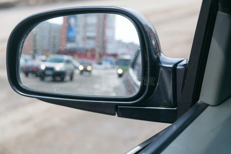Ruch plama skrzydłowy lustro samochód zdjęcie royalty free