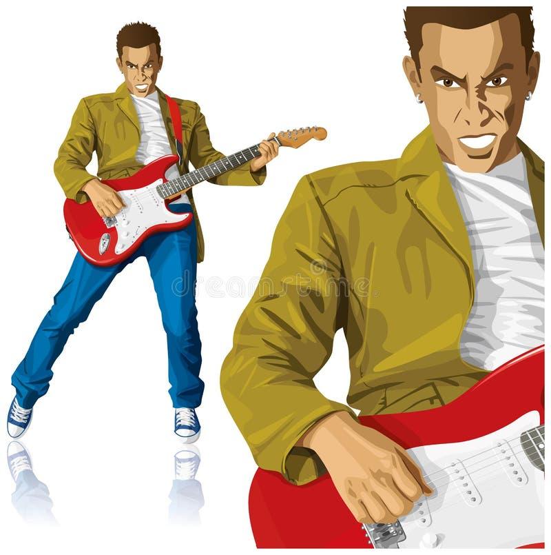 Ruch punków Z gitarą ilustracja wektor