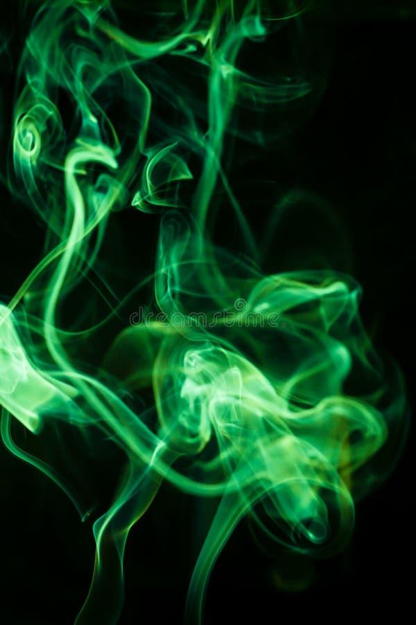 Ruch zieleń dym fotografia royalty free