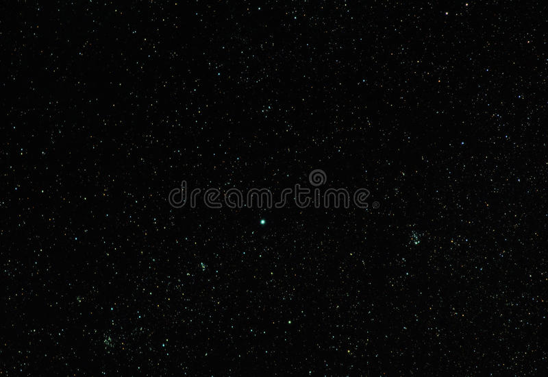 Ruchbah e conjuntos de estrela abertos fotografia de stock