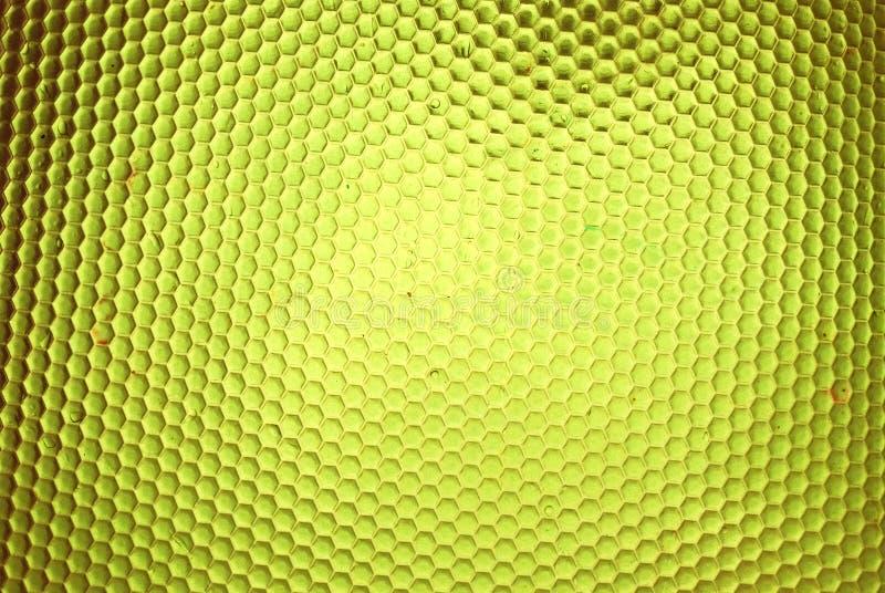 Ruche d'abeille en jaune illustration stock