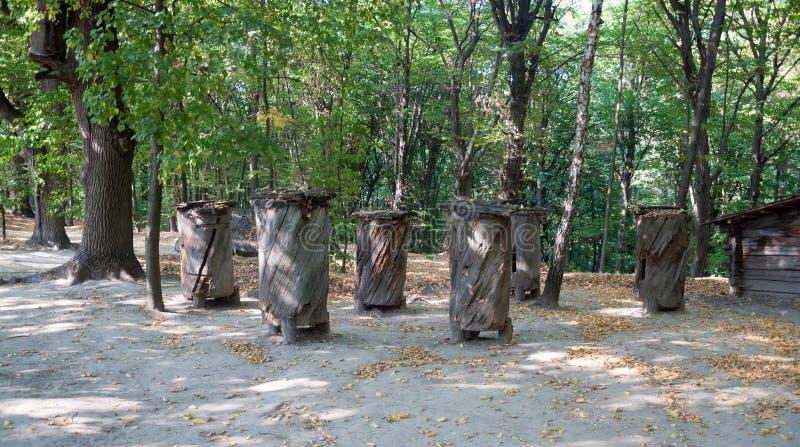 Rucher antique Musée en plein air Pirogovo image stock