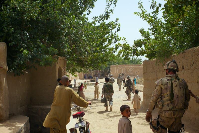 Ruchliwie Afgański wioska kwadrat fotografia royalty free