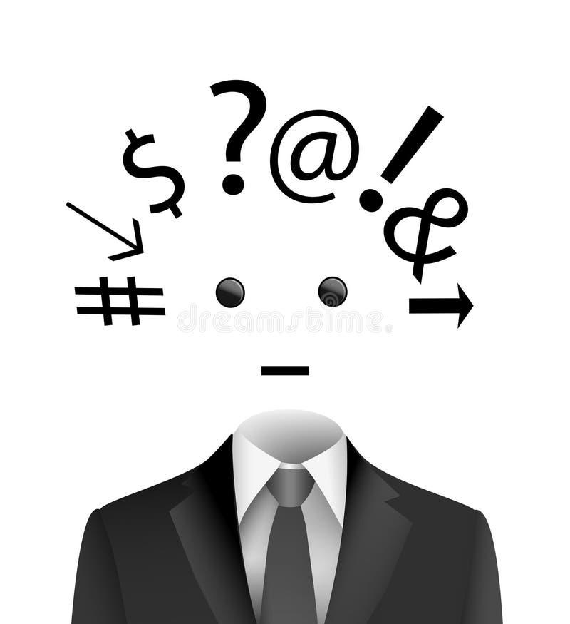 Ruchliwie dzień przy pracy pojęciem, kreatywnie pomysł o zmęczonym urzędnika główkowaniu, oszołamiający pracownika pomysł, ewiden ilustracji