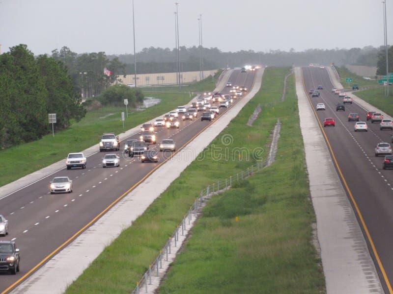 Ruchliwie Floryda autostrada obrazy royalty free