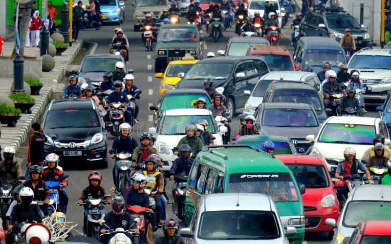 Ruchliwie godzina w Azja Afrika ulicie, fotografia royalty free