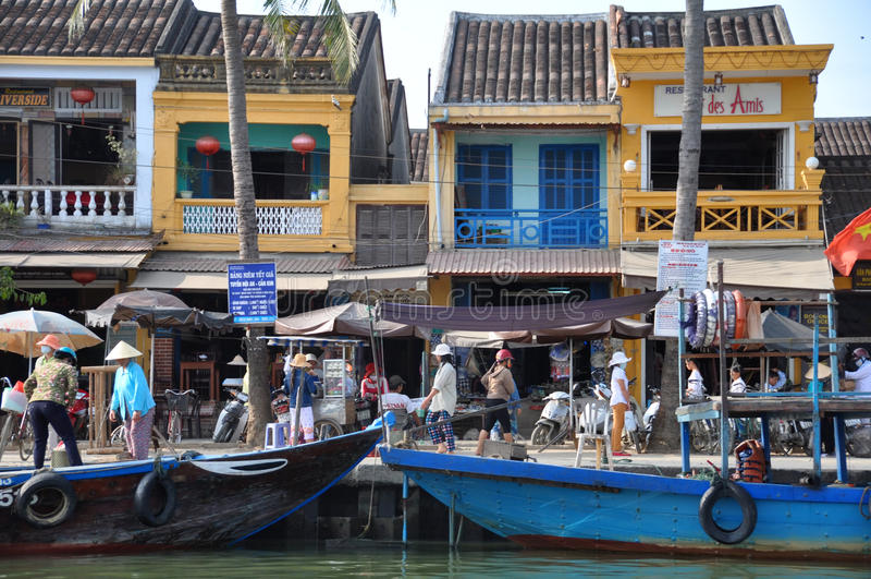 ruchliwie hoi Vietnam nabrzeże obrazy royalty free