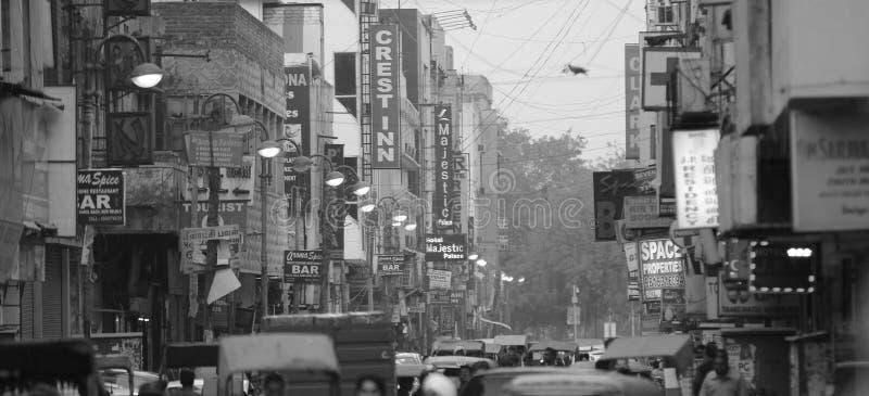 ruchliwie indyjska ulica fotografia stock