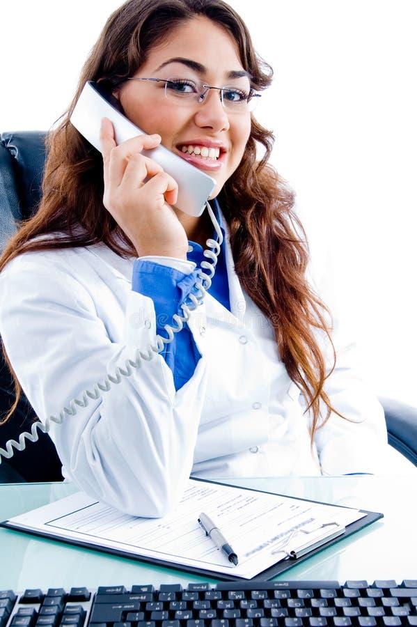 ruchliwie medyczny telefonu portreta profesjonalista zdjęcia royalty free