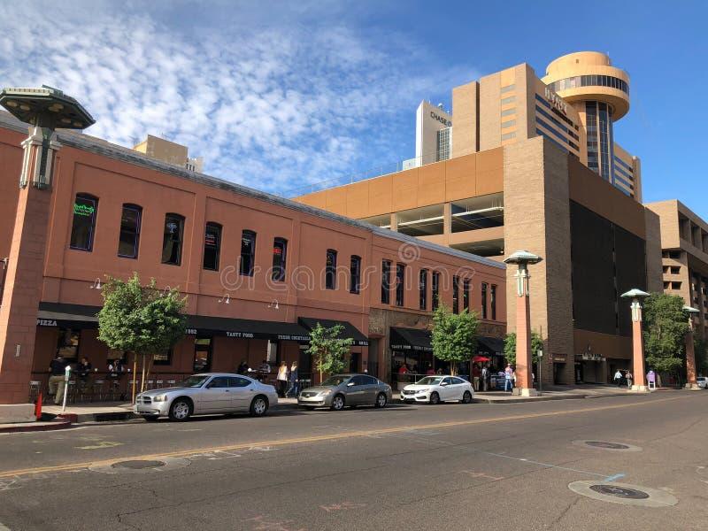 Ruchliwie Phoenix śródmieście, AZ obraz stock