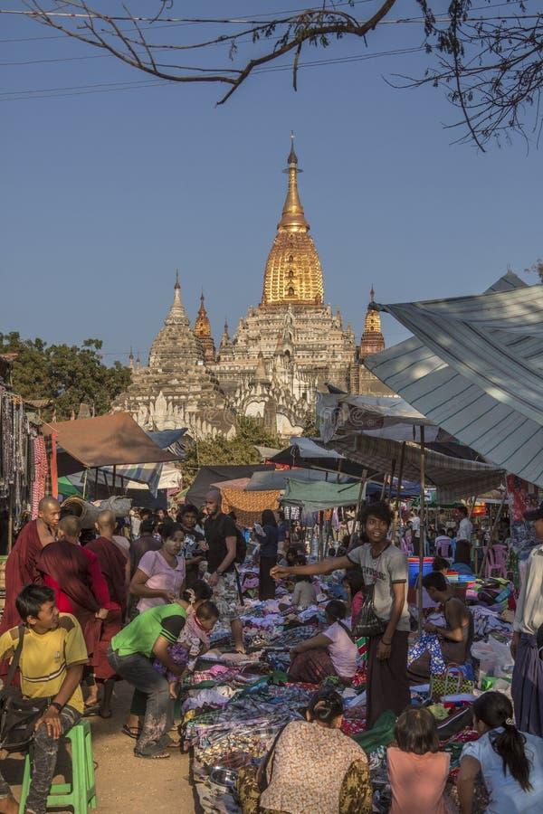Ananda świątynia, rynek i obrazy stock