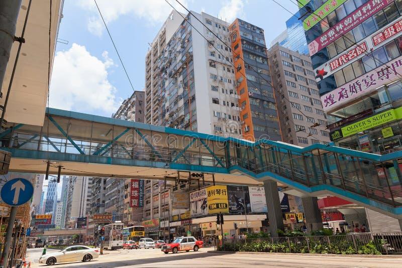 Ruchliwie wysokość - gęstości utrzymanie w Hong Kong zdjęcia stock