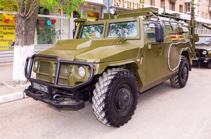Ruchliwość pojazdy GAZ-2330 Tigr są rosjaninem 4x4, multipurp zdjęcie royalty free