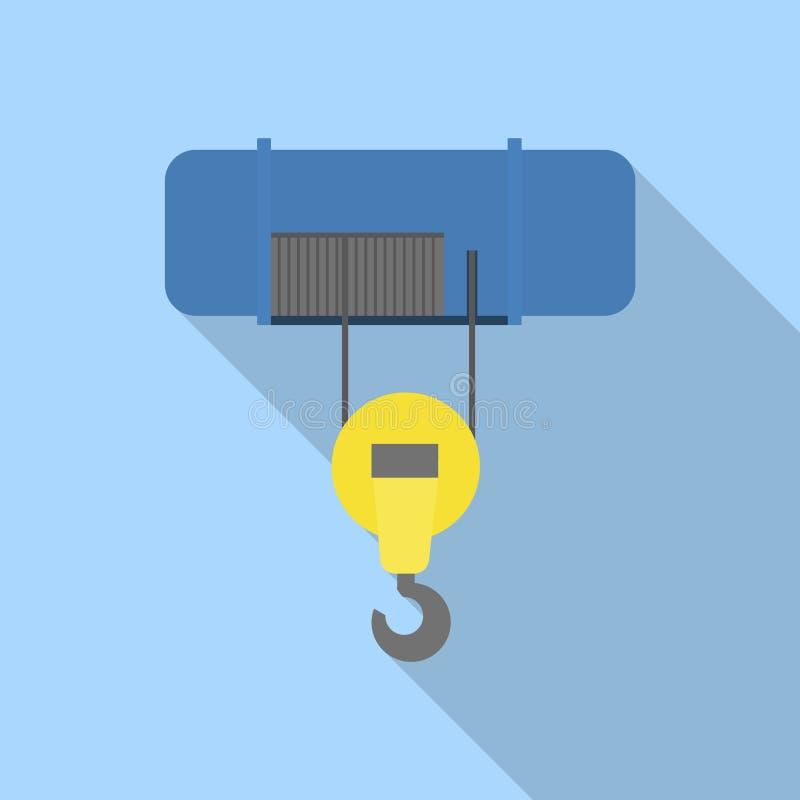Ruchliwości dźwignięcia dźwigowa ikona, mieszkanie styl ilustracji