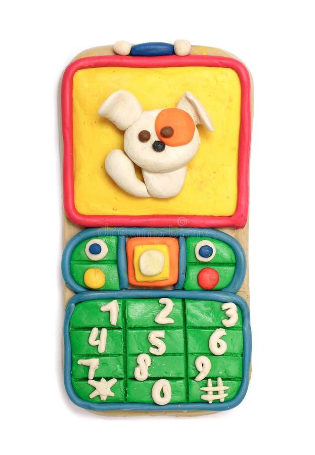 ruchome plastelina telefon obraz stock