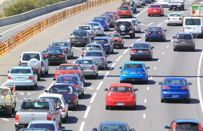 Ruchu drogowego dżem zdjęcia royalty free