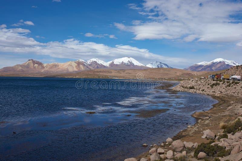 Ruchu drogowego dżem na Altiplano zdjęcie stock
