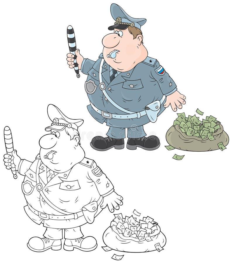 Ruchu drogowego inspektor ilustracja wektor