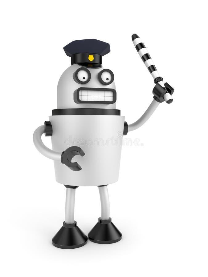Ruchu drogowego policjant ilustracji