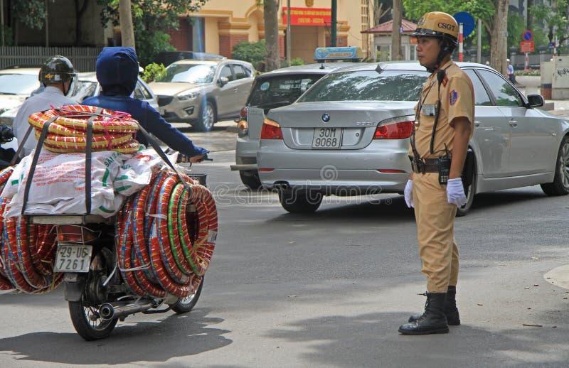 Ruchu drogowego policjant robi jego pracie fotografia royalty free