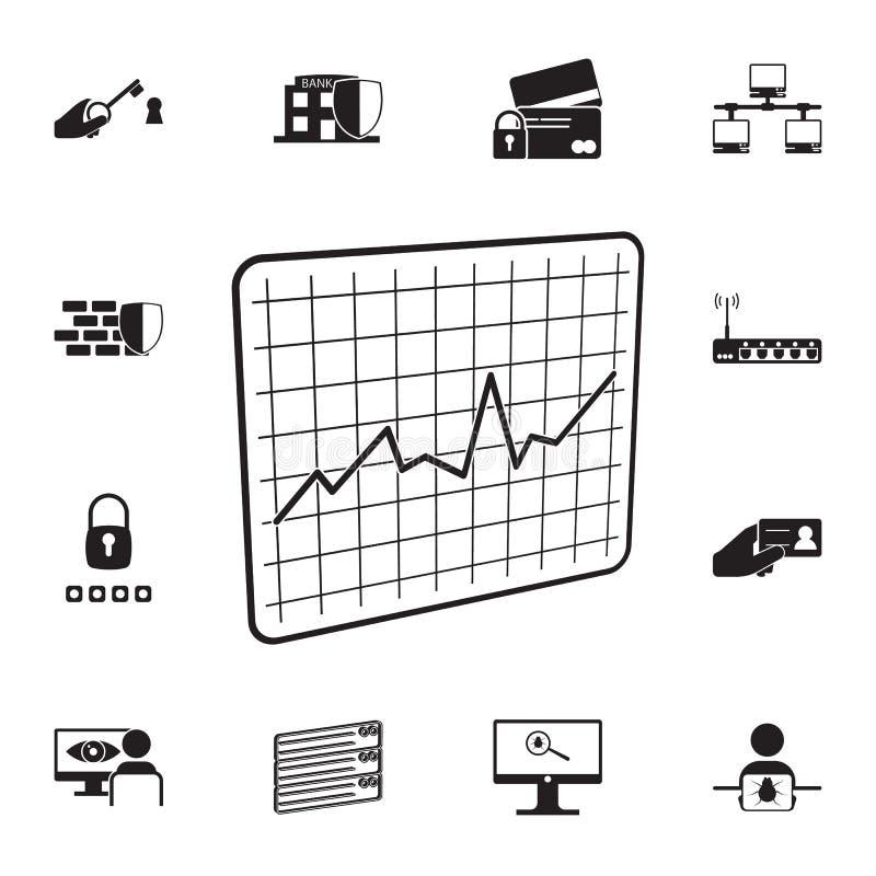 ruchu drogowego rozkładu ikona Szczegółowy set cyber ochrony ikony Premii ilości graficznego projekta znak Jeden inkasowe ikony d ilustracji