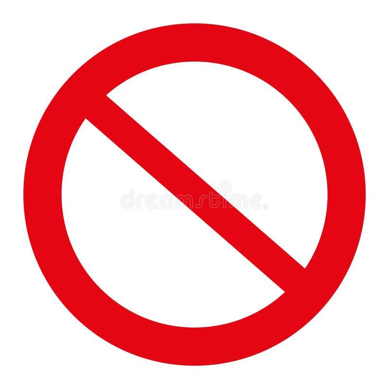 Ruchu drogowego znaka ilustracja, Pozwolić znak, odizolowywającego na bielu, ilustracyjny wektor fotografia stock