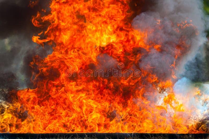 Ruchu płomienia ogień fotografia stock