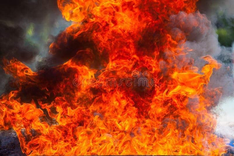 Ruchu płomienia ogień obraz stock