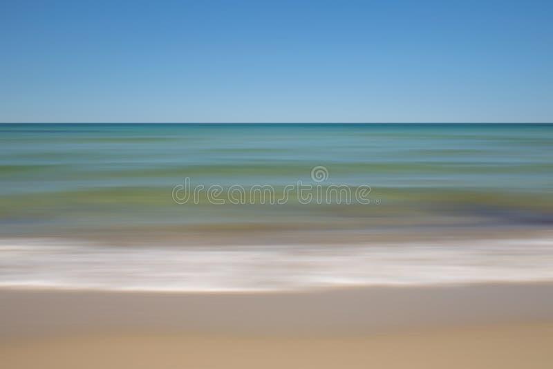 Ruchu Plażowy seascape zdjęcie stock