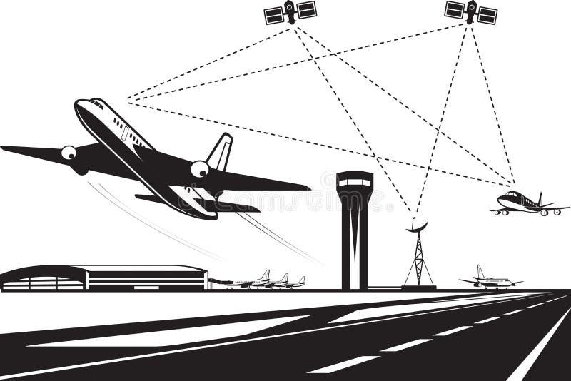 Ruchu powietrznego zarządzanie royalty ilustracja