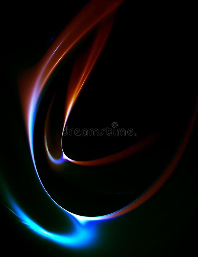 ruchu zimny kolorowy gorący strumień ilustracji