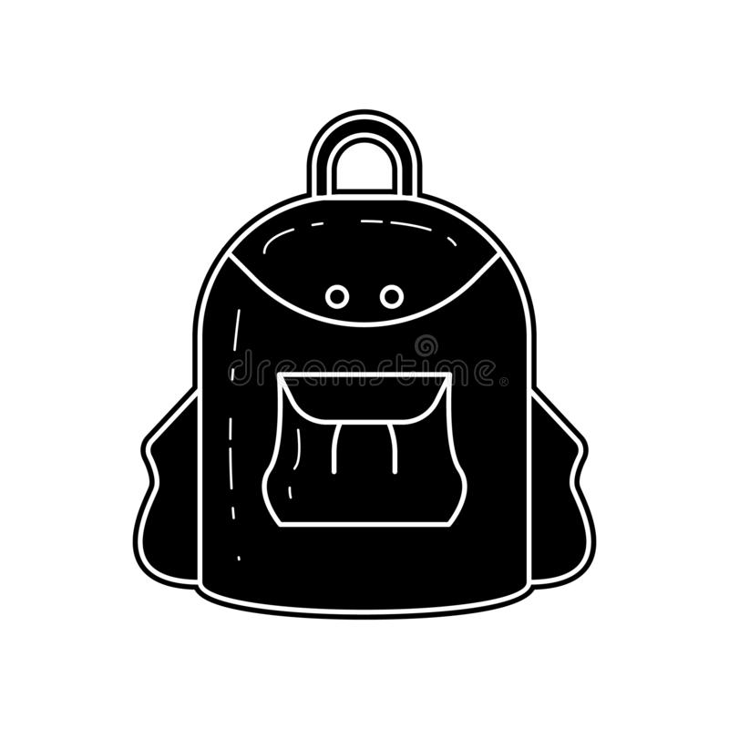 Rucksack f?r kampierende Ikone E Glyph, flache Ikone f?r Websiteentwurf und stock abbildung