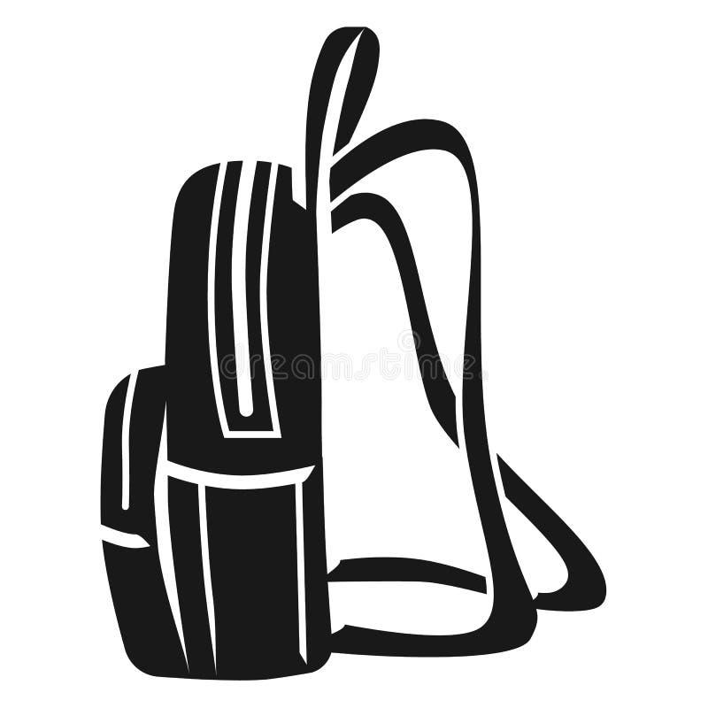 Rucksack-Seitenikone der Frauen, einfache Art stock abbildung