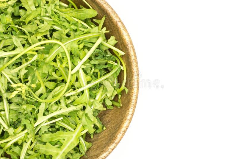 Rucola cruda fresca Rucola isolato su bianco fotografia stock